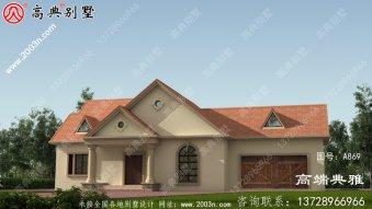 农村盖房设计方案图集一层房屋的设计图,色彩
