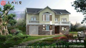 小进深大净宽的二层别墅设计图纸,设在乡村就