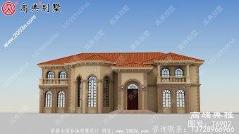 370平方米农村房屋设计图,工程造价40万内,独栋