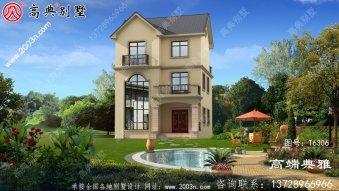 50万元以内欧式三层住宅和别墅建筑设计图纸和效