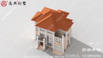 127平方米的农村三层别墅以简单的欧洲风格建造