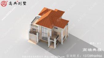 新农村三层豪华欧式别墅复式高端自建设计图纸