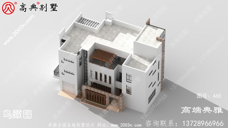 大户型别墅当代新农村建设四层房子设计建筑图及设计效果图