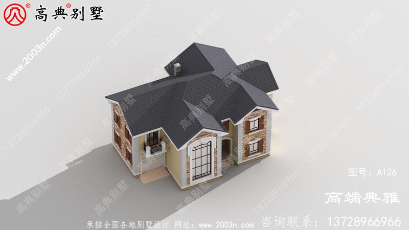 农村30万栋别墅设计为二楼自建,外观简洁大气。