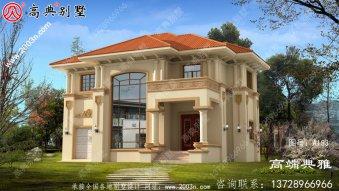 139平方米新农村简单欧式两层住宅别墅效果图
