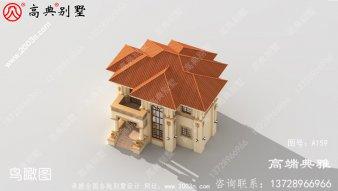 二楼欧式小别墅设计方案,建筑设计图一套+外观
