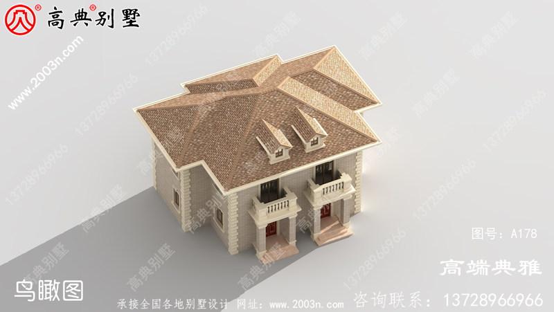新农村二层住宅设计图纸(全套施工图+外观效果图)