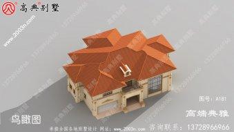 401平米新农村建设豪华欧式二层楼房设计图纸及