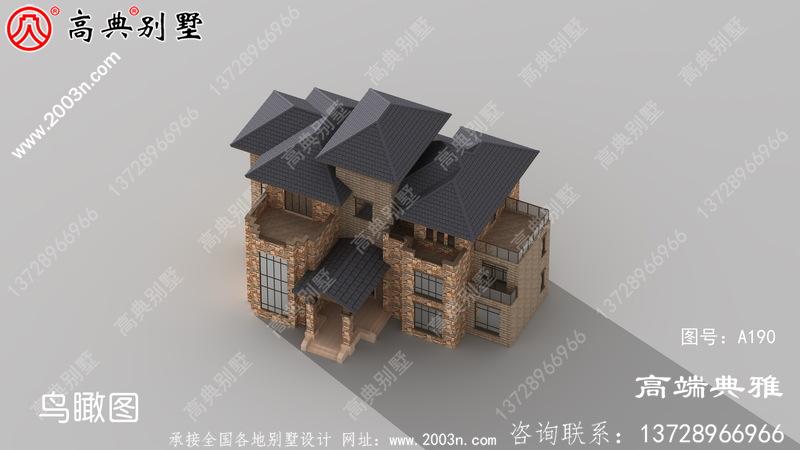 246平米三层别墅带阳台的复式别墅设计工程图纸
