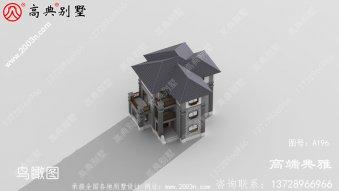 乡村三层中式楼房设计图及设计效果图