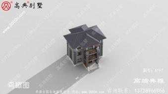 30万左右的中式农村别墅三层设计图纸,复古雅韵