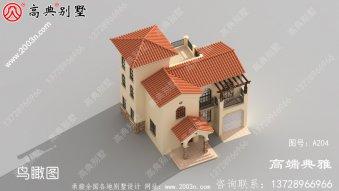 欧式小型二楼别墅效果照片,附Cad别墅设计图一