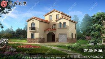 三层乡村房屋设计图纸,带设计效