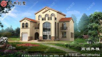 大户型高端三层别墅设计图,外观效果图+CAD建筑