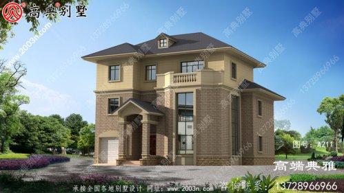 私人二楼欧洲别墅建筑设计图(效果图+别墅设计方
