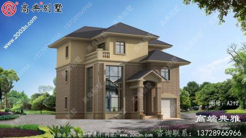 经典农村三层建筑的设计图,外观时尚精致