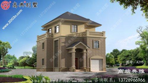 126平方米复式三层别墅住宅设计,房间采光好