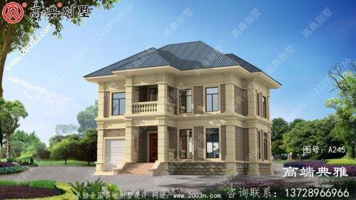 乡村自建房设计图,两层房屋设计图及设计效果
