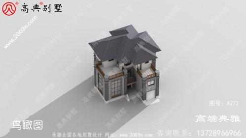 40万内三层中式自建别墅设计效果图,外观美观,