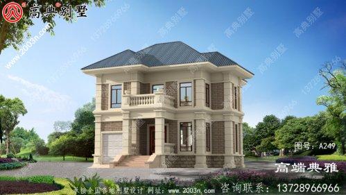 134平两层复式别墅设计图及外观效果图