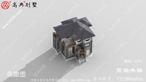 147平方的中式三层自建别墅设计效