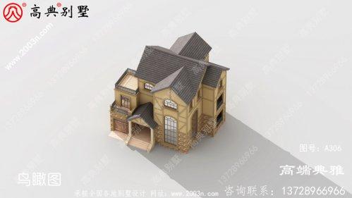 造价50万内的三层楼房设计图,占地192平米。