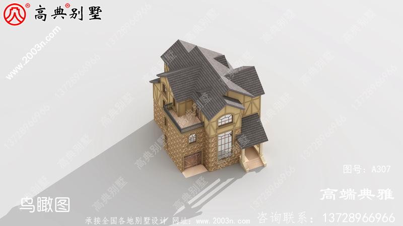 50万内农村三层别墅设计图纸,带大露台,外观精致大气