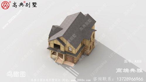 40万内农村两层别墅设计图,欧式的外观大气沉稳