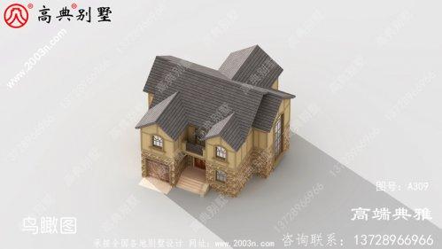 二楼小别墅设计图样、平顶设计有cad设计图和外