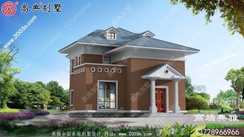 豪华二层别墅设计图纸及效果图,欧式别墅方案