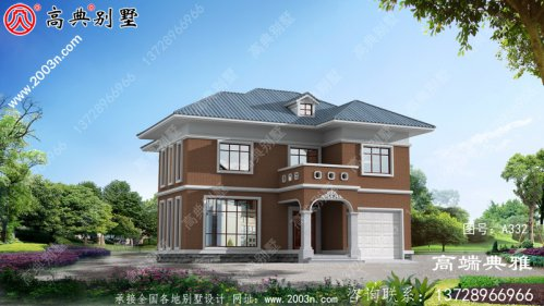 农村简易经济二层别墅设计图纸(效果图+完整施工