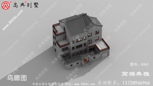 226平方米经典乡村中式三层住宅设计图纸