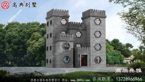 占地118平米中式三层乡村别墅设计