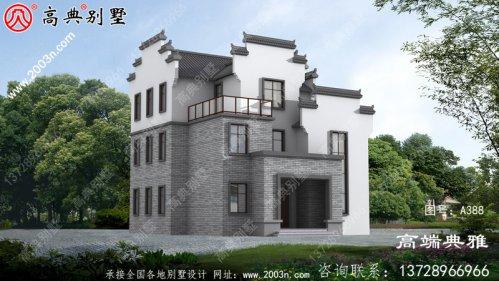简约美观实用的三层自营住宅设计图,占地面积