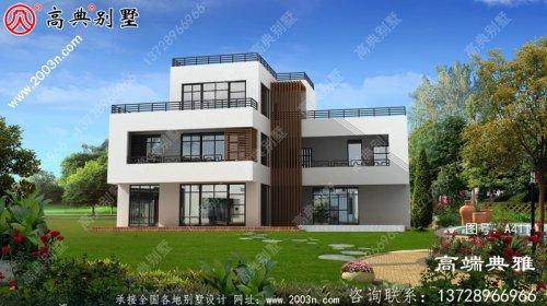新型165平米乡村现代三层楼房设计图,大客厅中