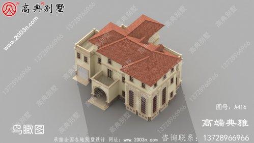 欧式三层自建别墅效果图,经典不