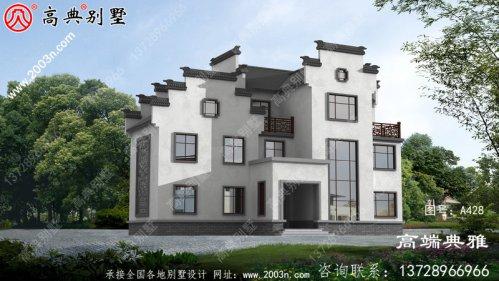中式三层别墅设计图片及设计图,外观高端、大