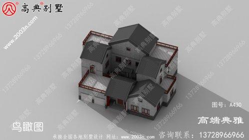 素雅中式三层别墅设计图纸,全套施工方案及效