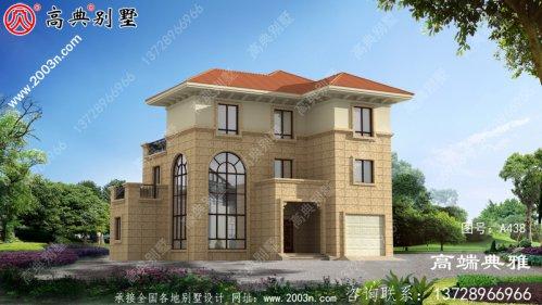 161平方米新农村三层别墅设计图,CAD建筑图+效果