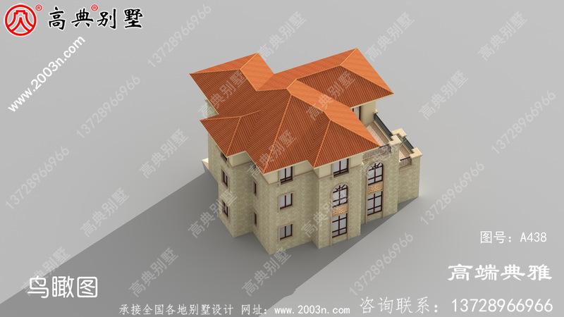 161平方米新农村三层别墅设计图,CAD建筑图+效果图一套