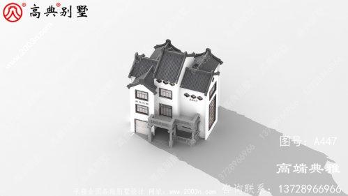 225平方米中式三层别墅建筑设计图纸,复式结构