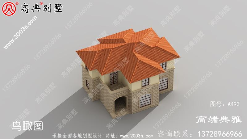 简欧两层别墅的设计效果图,户型方正实用经济型