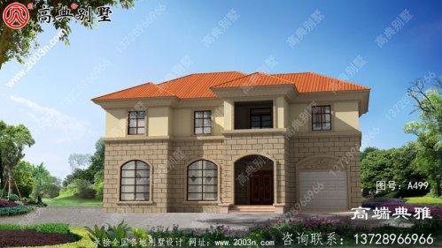 占地209平大户型两层欧式别墅设计图,自建房屋