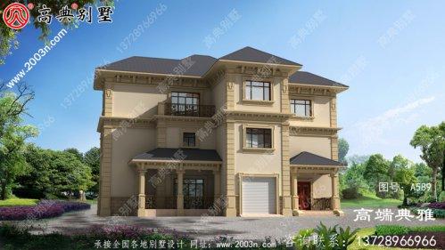 最新款欧式古典高档三层别墅设计