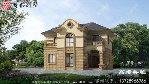 农村欧式二层别墅设计设计图户型