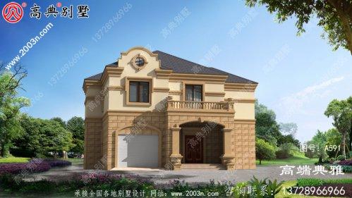 欧式二层小别墅设计方案图,带cad施工图和外观
