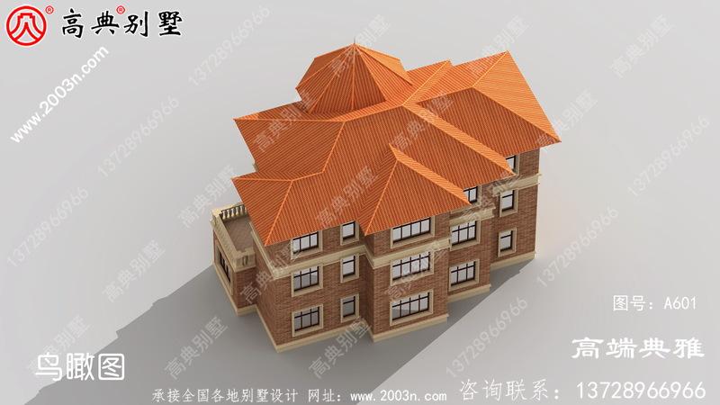 欧式三层乡村自建房设计图纸,外型高档大气