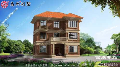 欧式三层豪宅设计图及外观图片,经典户型方案
