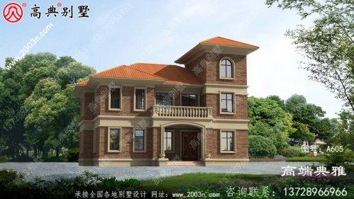 最美的农村二层楼房图,坡屋设计不死板