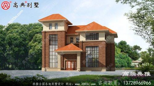 新农村建设四层房屋设计图纸全集,大户型占地